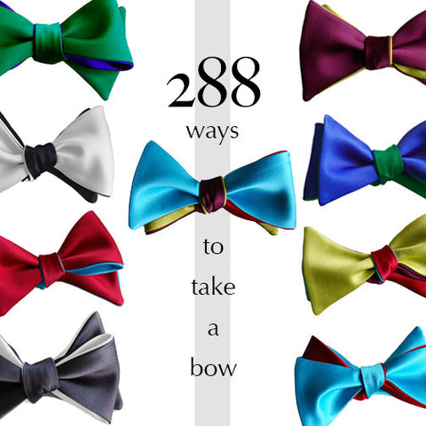 Set of 4 Satin Bow Ties: Create 288 Looks