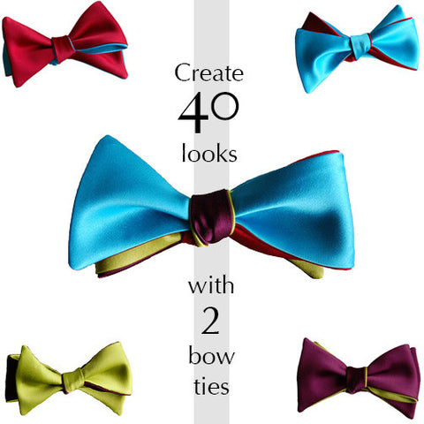 Pick 2 bow ties: Create 40 looks