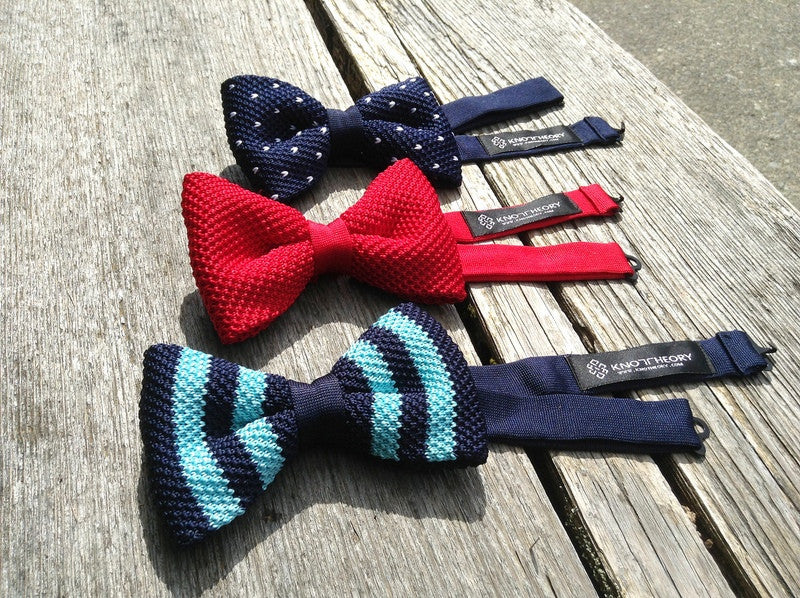 Pick any 4 Famous Knits Pre-tied knitted bow ties