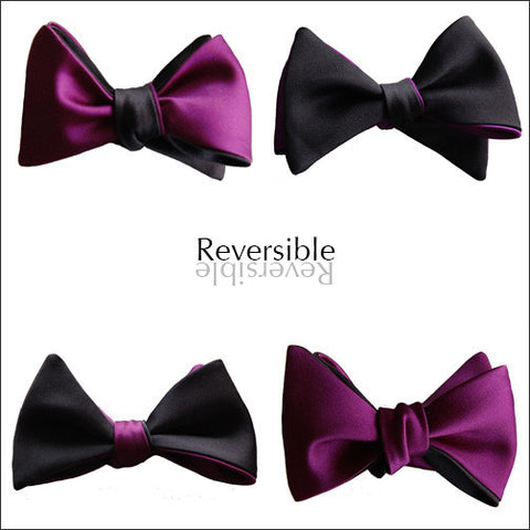 You Only Live Twice: James Bond Black & Purple Butterfly bow tie
