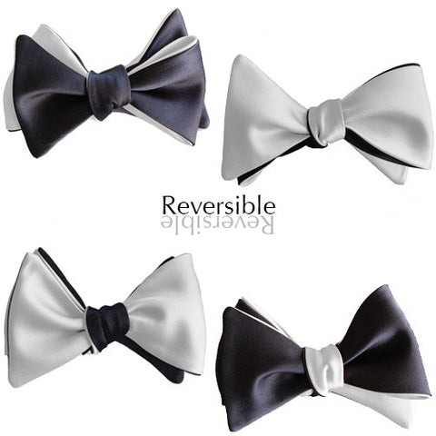 Moonraker: 6-Way White and Black James Bond Butterfly bow tie