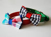 Tropical Holiday Madras Plaid Dog bow tie