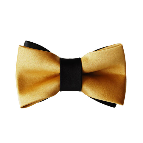 Gold Finger - Black and Gold James Bond dog bow tie