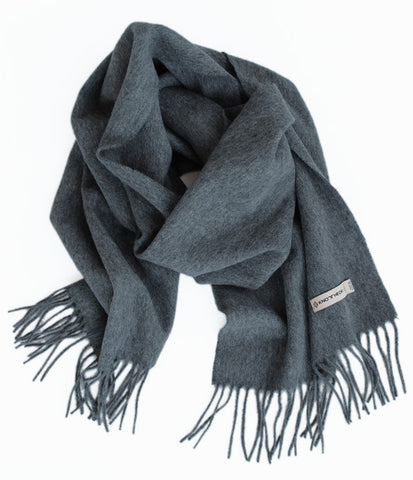 Rock Grey 100% Cashmere Scarf