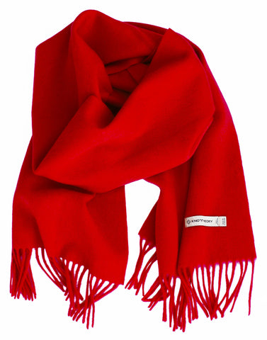 True Red 100% Cashmere Scarf
