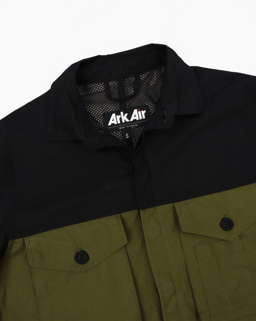 A125AA - Overshirt - Black/ Green