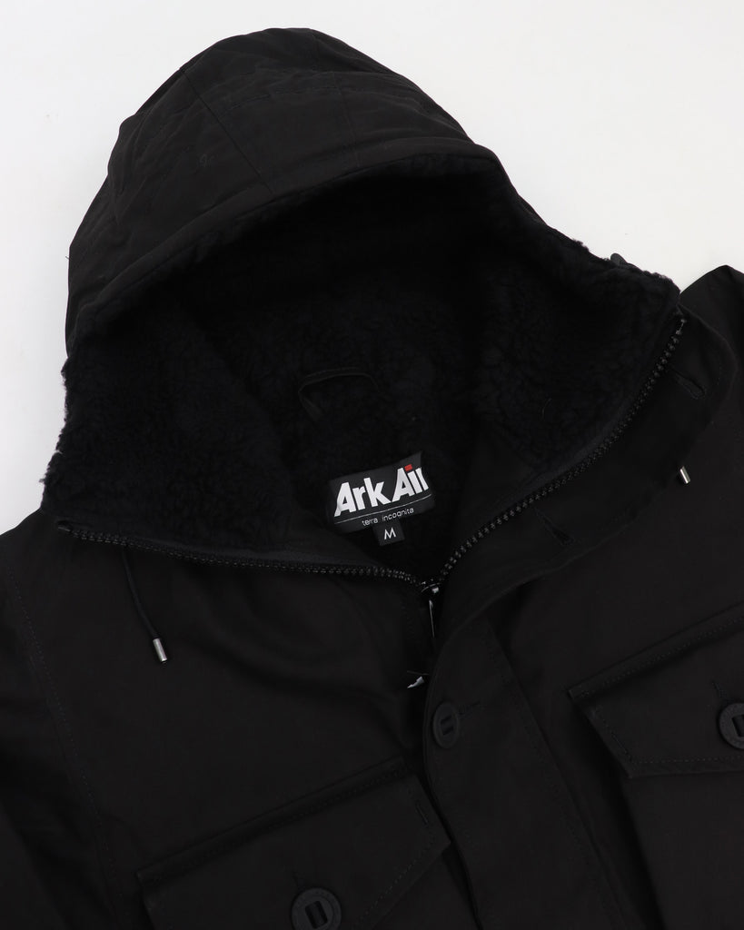 B245AA - Sheepskin Smock - Black