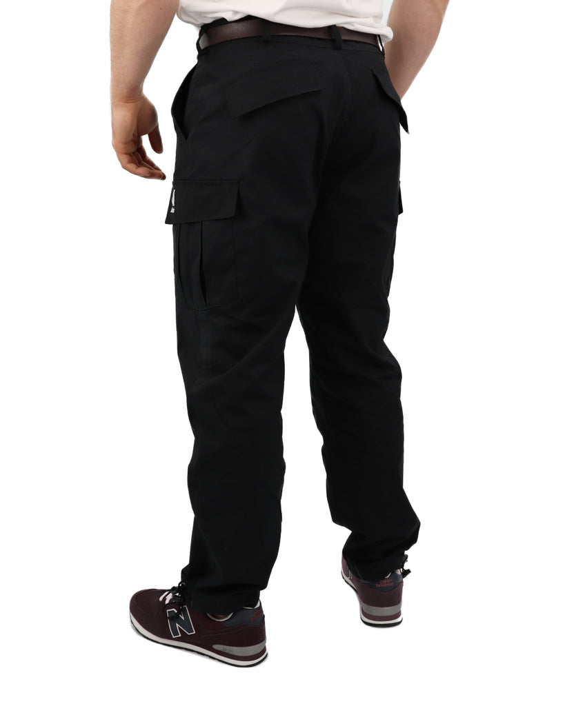 C332AA - Canvas Combat Trousers - Black