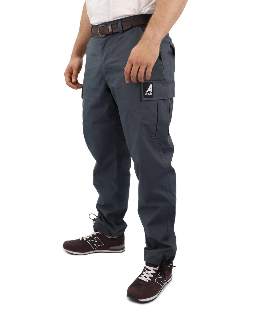 C332AA - Canvas Combat Trousers - Urban Grey
