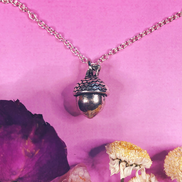 'Mighty Potential' Acorn Charm Necklace