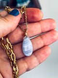 'Sparkly Confidence' Gold Titanium Druzy Agate Neon Orange & Muted Pink Acrylic Necklace
