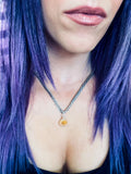 'Sparkly Confidence' Black Titanium Druzy Agate Necklace
