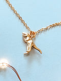 'You Are Unstoppable' T-Rex Dinosaur Charm Necklace - Gold Necklace