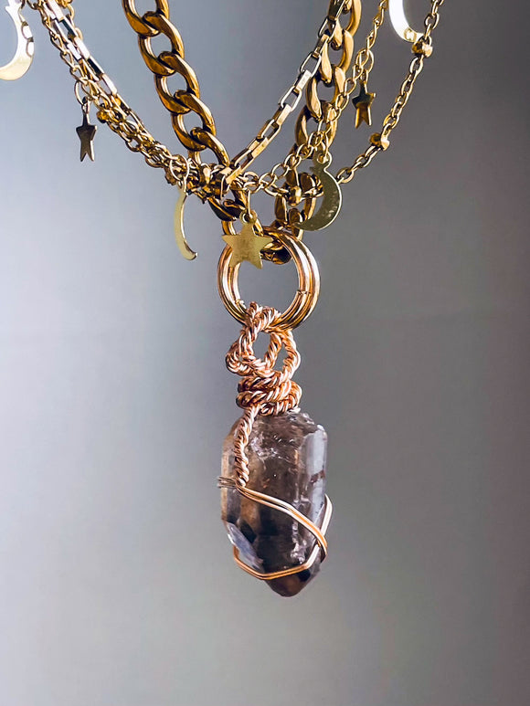'Spiritual Warrior' Tiger's Eye Hoop Earrings
