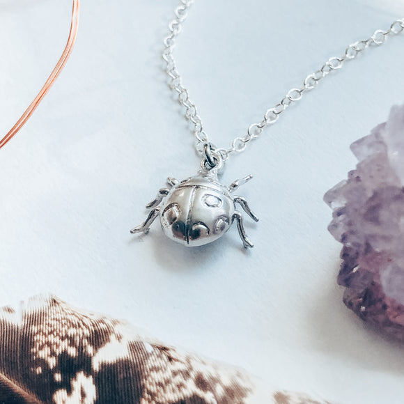 'Luck Be a Lady' Lady Bug Charm Necklace