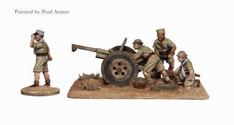 FWW 9 French 75mm gun and crew