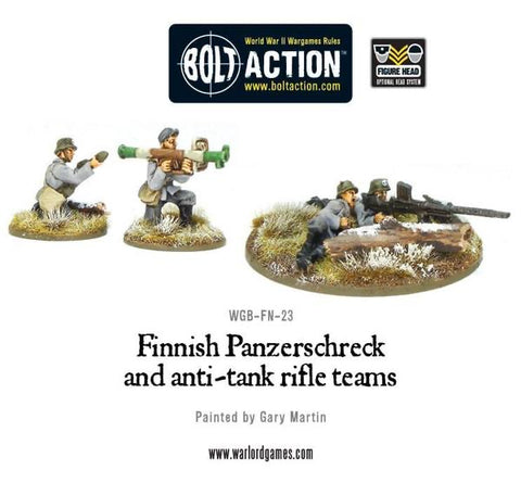 Finnish panzerschrek & anti tank rifle