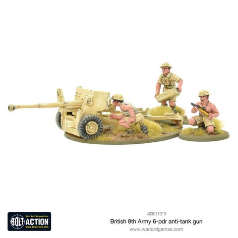 8th Army 6 pounder anti tank gun