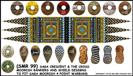 Moorish banner and shield transfers