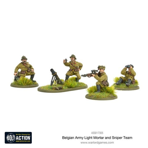 Belgian Light Mortar and Sniper Team