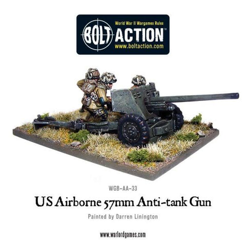 US Airborne 57mm AT Gun And Crew