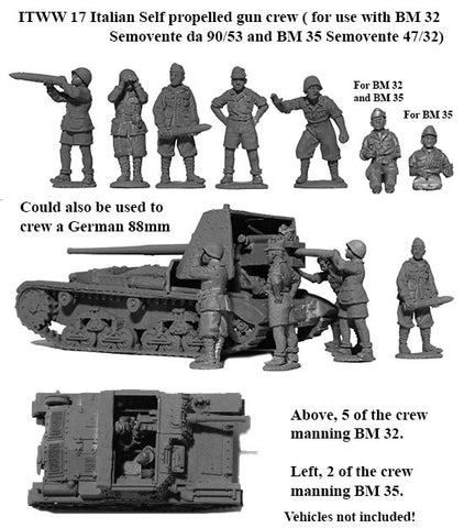 ITWW 17 Italian Self propelled gun crew