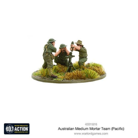 Australian medium mortar team