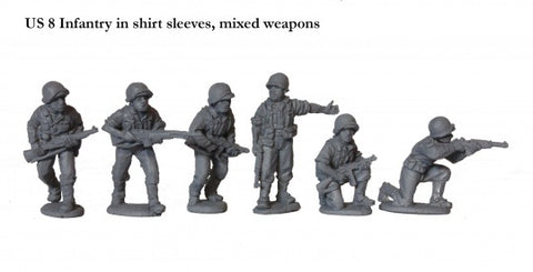 US 8 Infantry in shirt sleeves