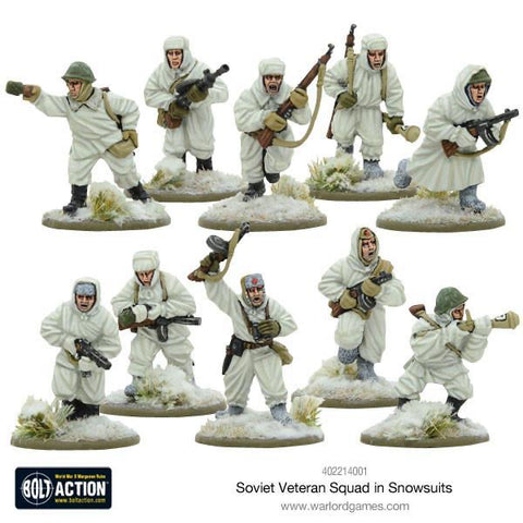 Soviet Veteran Squad in Snow Suits