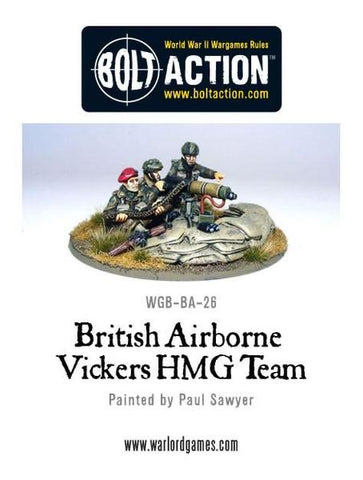 British Airborne Vickers HMG Team