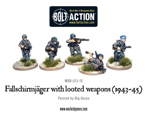 Fallschirmjager with looted weapons 1943-45
