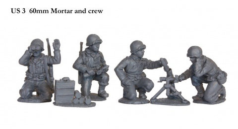 US 3 60mm Mortar and crew