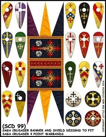 Crusader Banners & Shield transfers SCD99