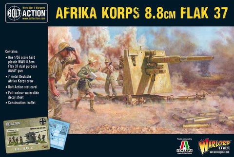 Afrika Korps 88mm AT gun and Crew