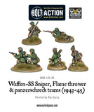 German Waffen SS Sniper, Flame Thrower, & Panzerschrek Support Team