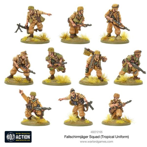 Fallschirmjager Squad Tropical Uniform