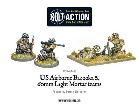 US Airborne Bazooka & 60mm Light Mortar Teams