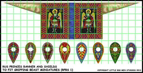 Rus Princes banner and shield transfers