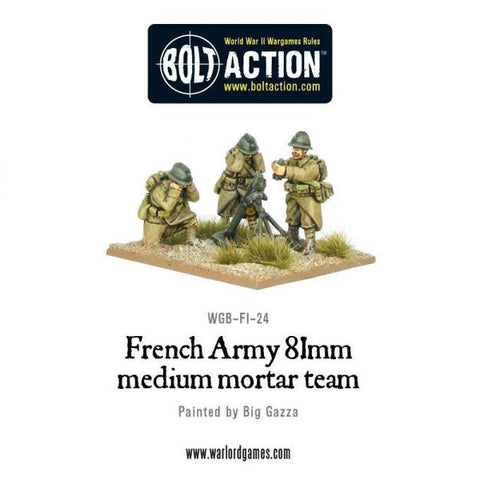 Early War French Army 81mm Medium Mortar Team
