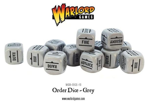 Grey Bolt Action order dice