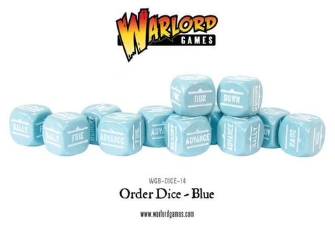 Blue Bolt Action Order dice