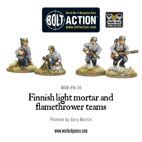 Finnish flame thrower and light mortar