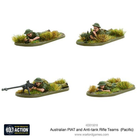 Australian PIAT and anti tank rifle teams
