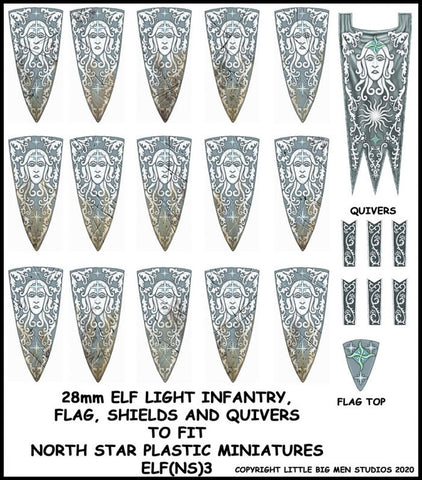 Elf Banner and Shield Transfers 3