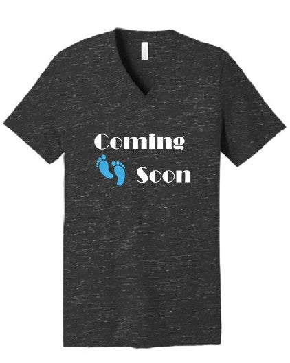 Short Sleeve Coming Soon V-Neck Tee