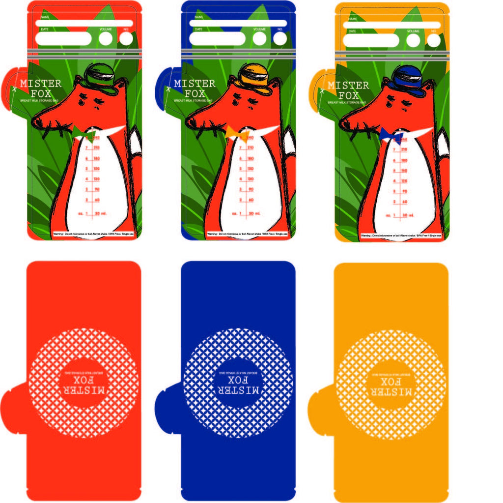 Mister Fox Breast milk storage bag (ถุงนมแม่ Mister Fox)