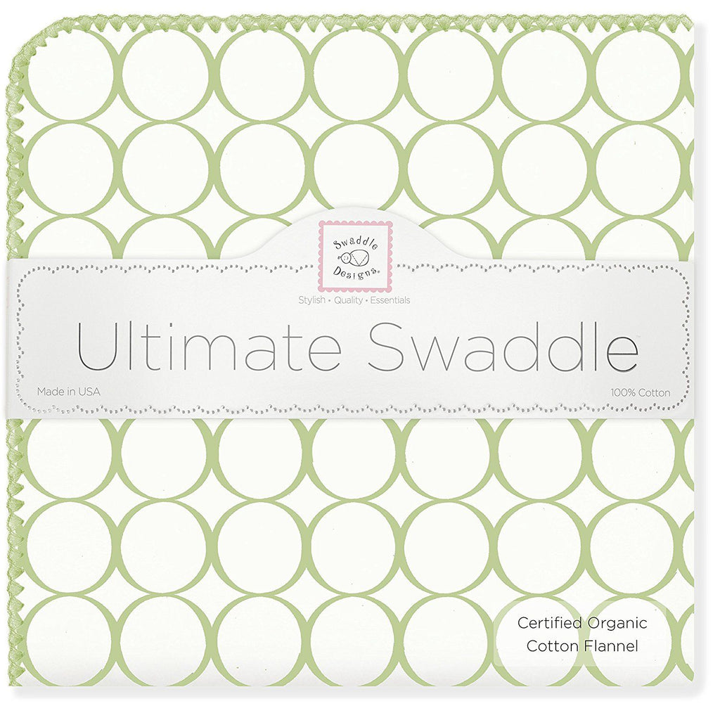 Swaddle Designs Ultimate Receiving Blanket Organic Mod Circles on Ivory