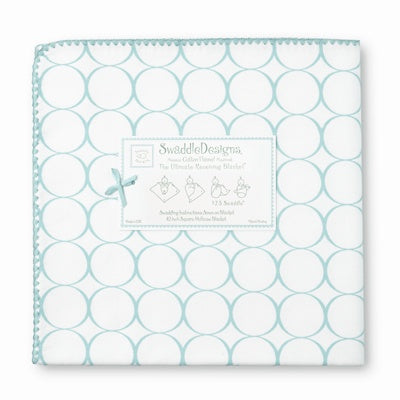 Swaddle Designs Ultimate Receiving Blanket Mod Circles on White