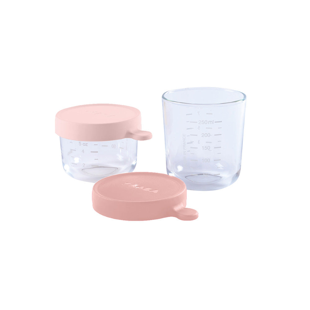 Beaba Set of conservation jars in superior quality glass