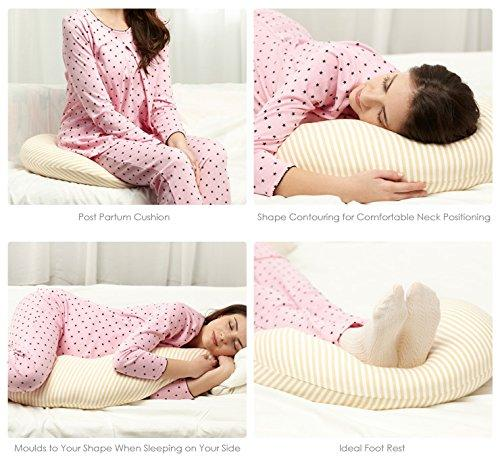 Mamaway Medical Grade Hypoallergenic 3-in-1 Maternity Support Breastfeeding and Pregnancy Pillow